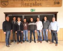 Bild (von links): Oberst Michael Schultejann, Benedikt Hornhues, Fabian Reimering, Andre Levers, Christoph Gevers, Magnus Hamann, Marc Schlattmann und Vorsitzender Paul Kahmen